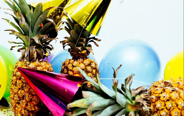 pineapples and party hats