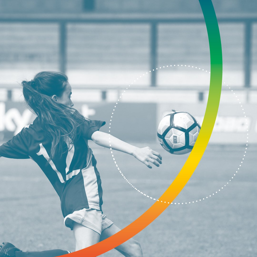 Young female football player in action - Kardia Sports