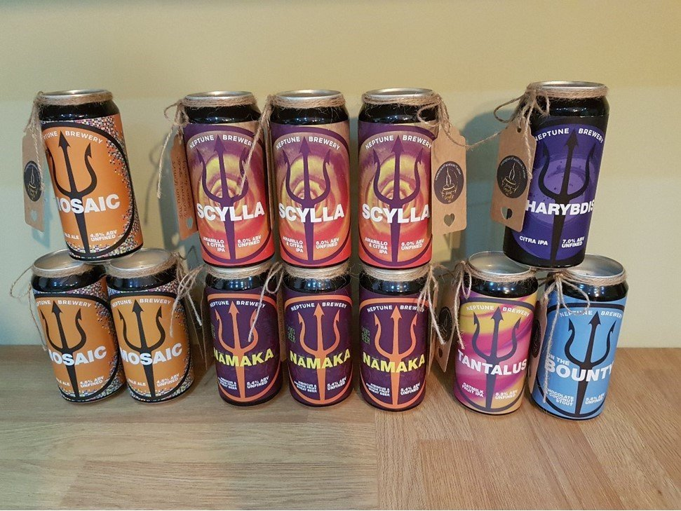 independent beer cans upcycled into candles