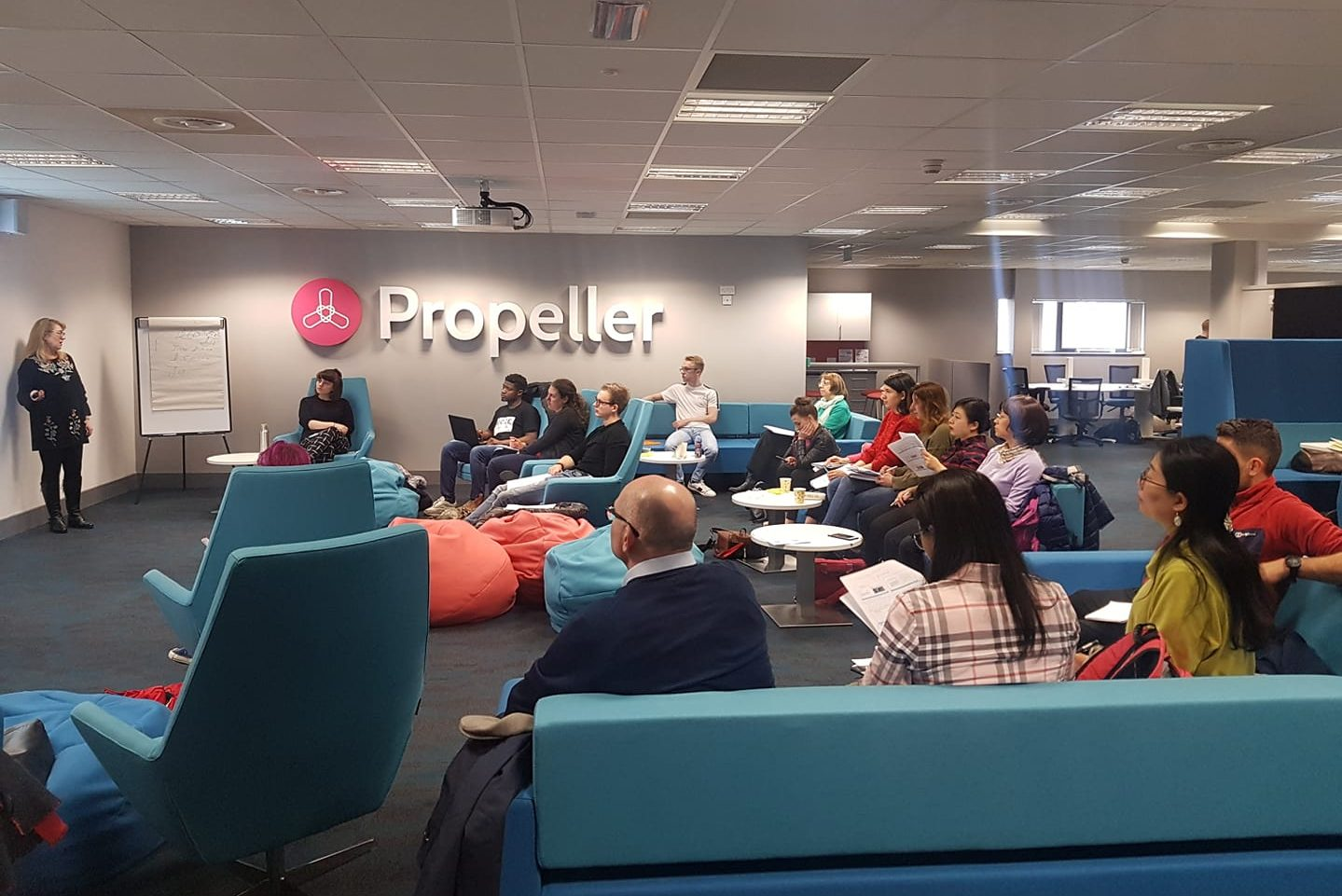 social media for business workshop in the propeller hub