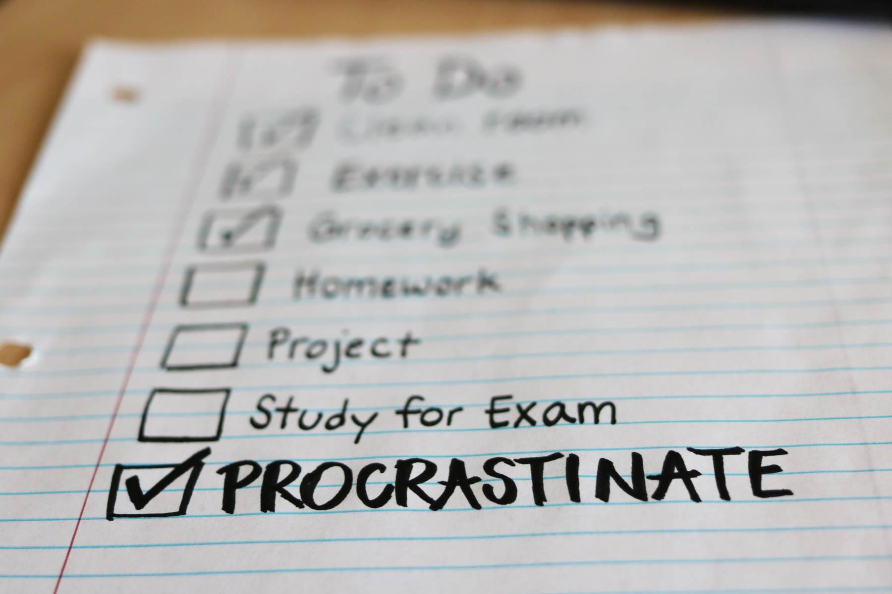 procrastinate tick list